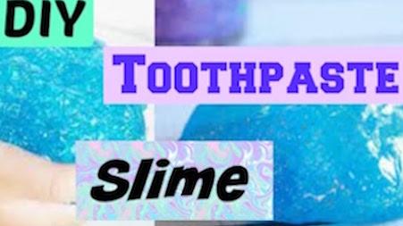 2- Toothpaste Slime